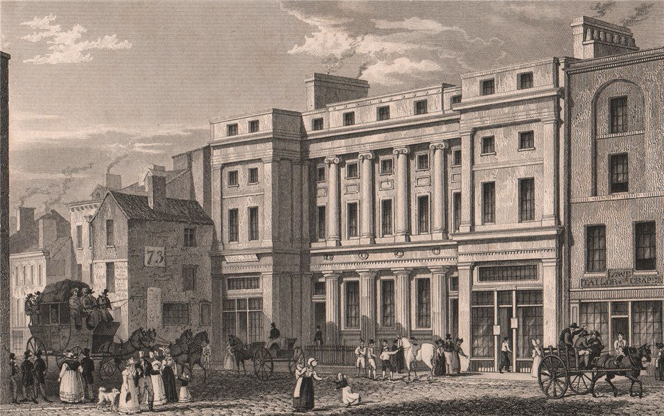 Associate Product Market Street. Cunliffes, Brooks & Co.'s Bank. Manchester. ALLOM 1829 print