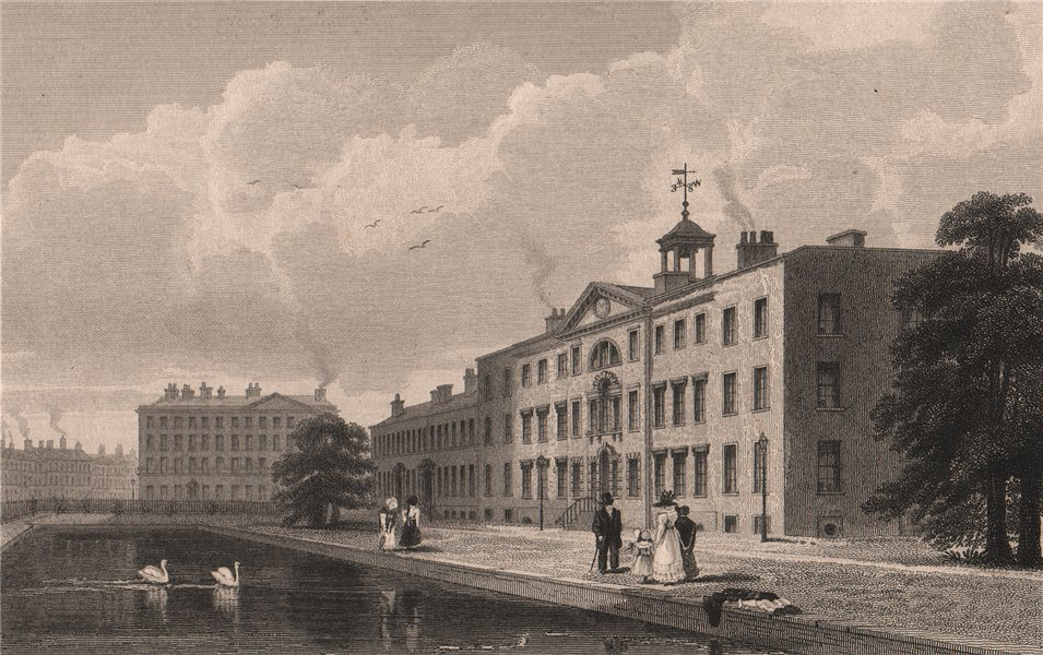 Associate Product Manchester Royal Infirmary/dispensary/asylum. Now Piccadilly Gardens.AUSTIN 1829