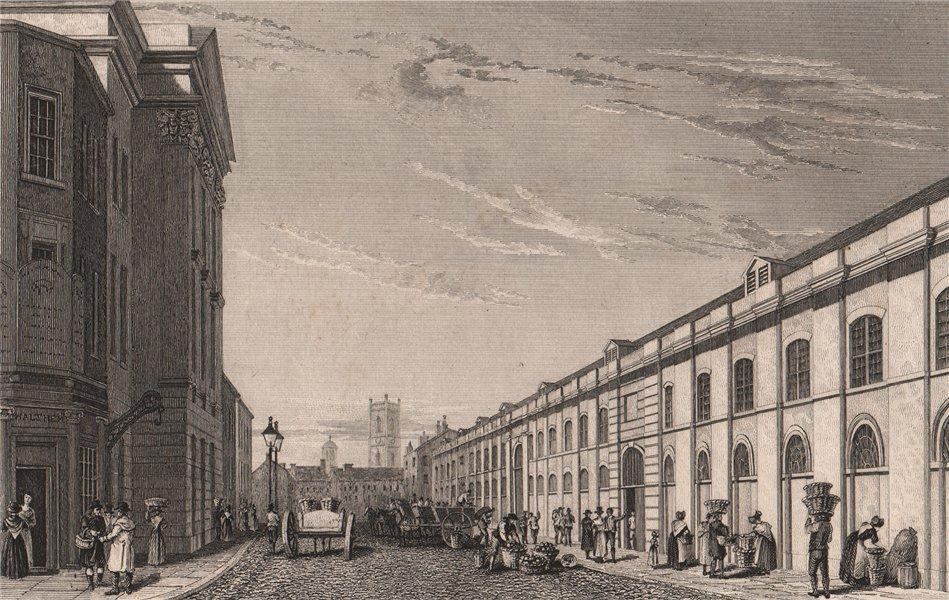 Associate Product St. John's Market, Great Charlotte Street, Liverpool. PYNE 1829 old print
