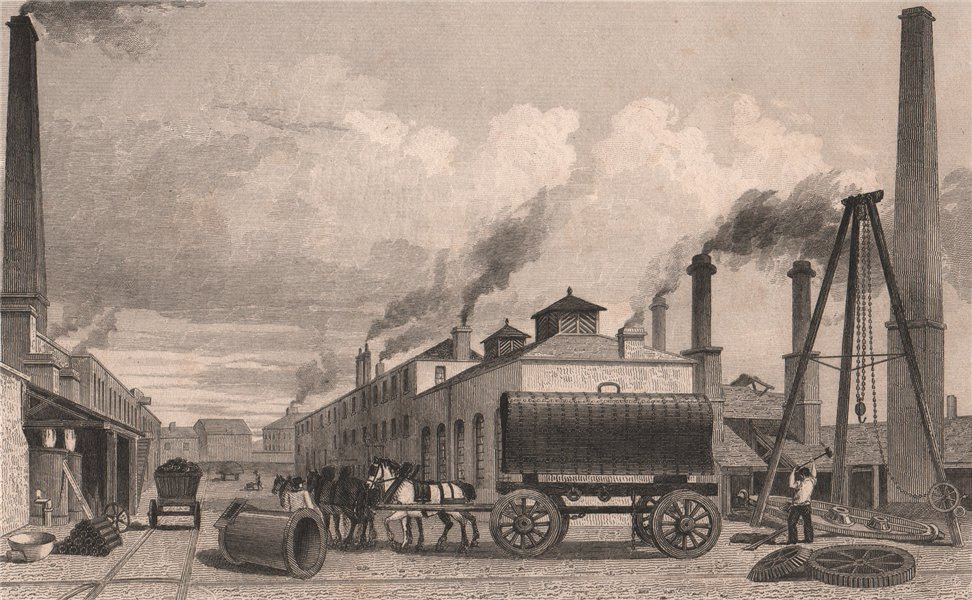 Associate Product Steam-engine manufactory & iron-works, Bolton. Rothwell Hick & Co. HARWOOD 1829