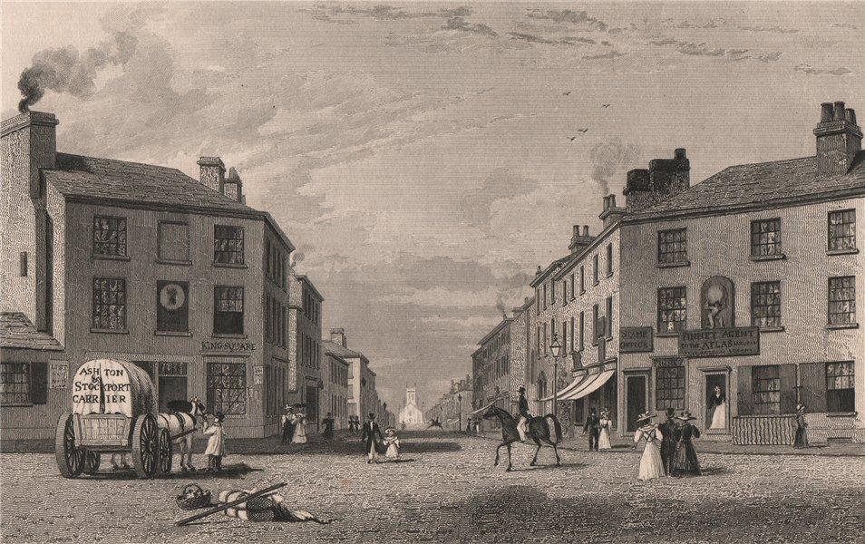 Associate Product Stamford Street & St Peter's church, Ashton-under-Lyne, Lancashire. HARWOOD 1829