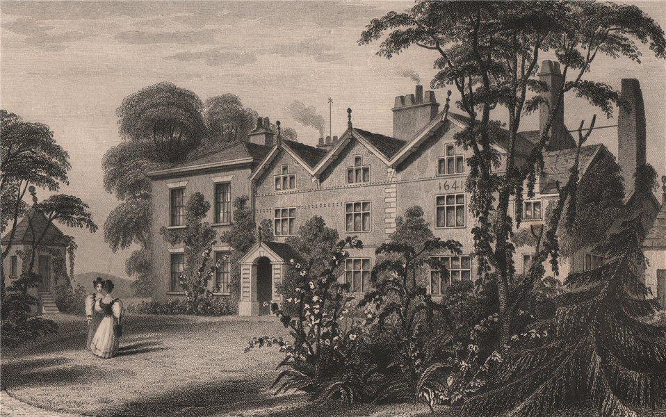 Associate Product Birch House, Market Street, Farnworth, Bolton. Razed 20C. HARWOOD 1829 print