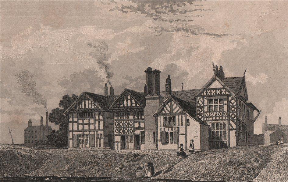 Associate Product Garrett Hall, Tyldesley, Greater Manchester. Since rebuilt. HARWOOD 1829 print