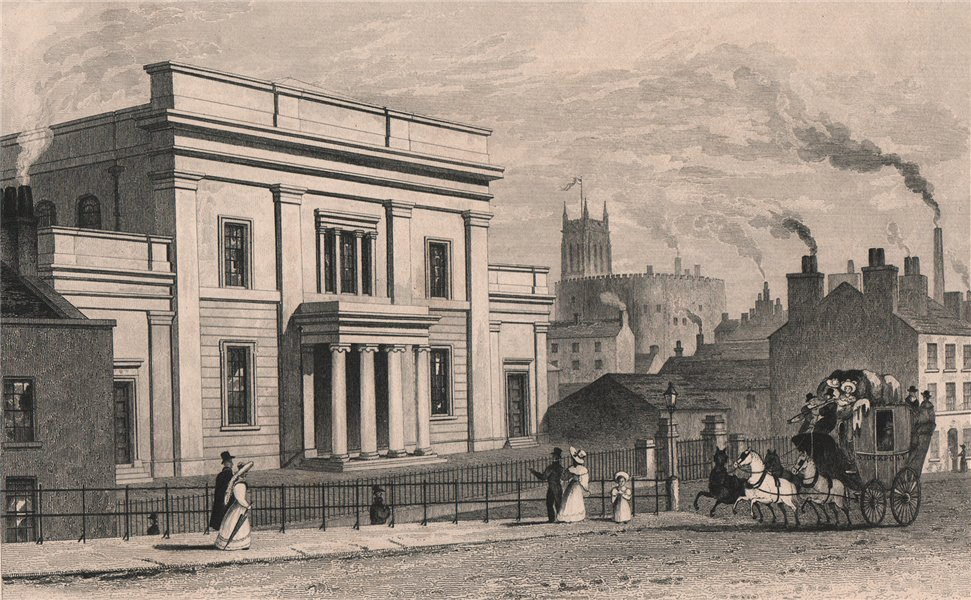 Associate Product Tiviot Dale Methodist Church, Stockport. Manchester. HARWOOD 1829 old print