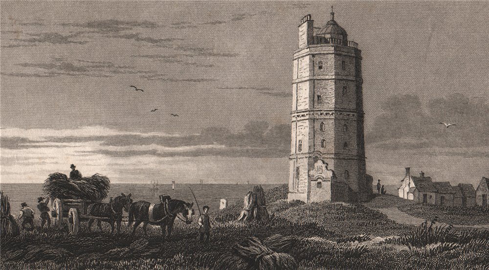 Associate Product North Foreland lighthouse. Kent. GASTINEAU 1829 old antique print picture