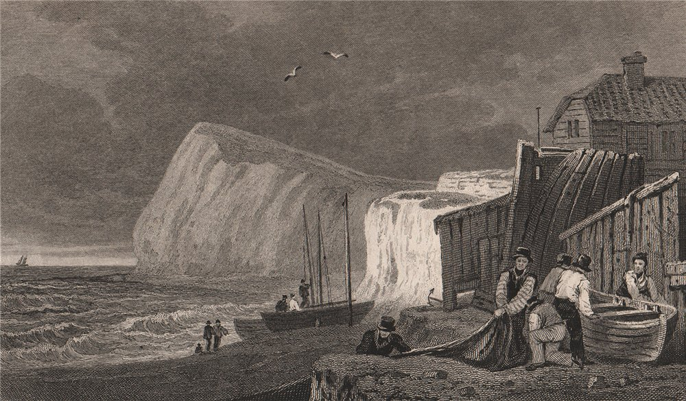 Associate Product Shakespeare's Cliff, Dover. Kent. GASTINEAU 1829 old antique print picture
