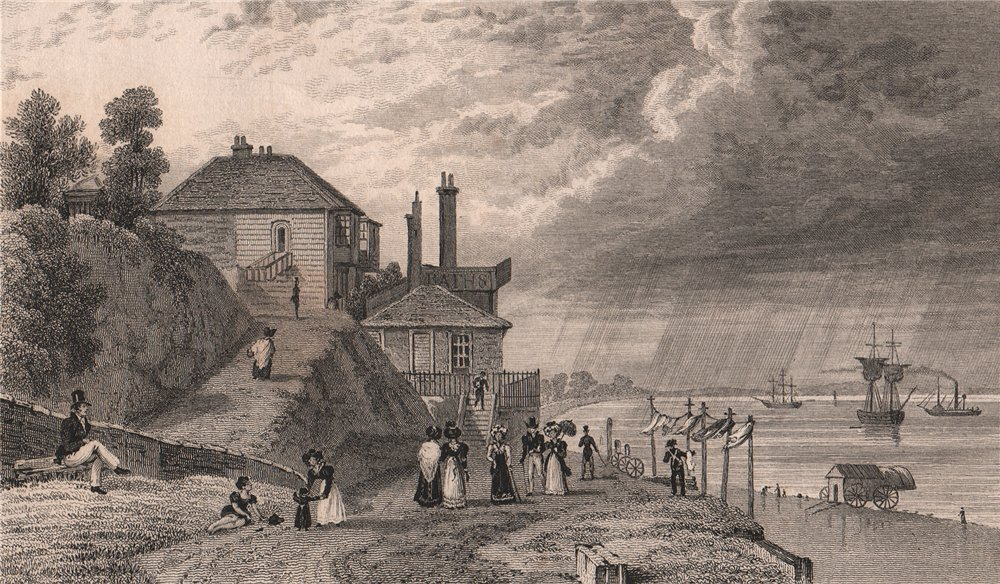 Associate Product The baths at Gravesend. Kent. SHEPHERD 1829 old antique vintage print picture