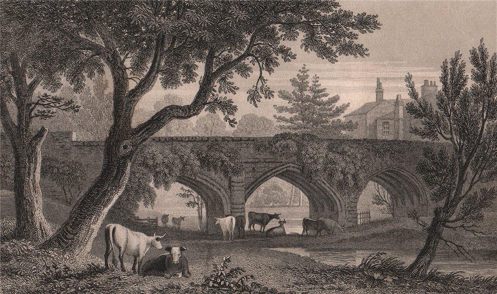 Associate Product Eltham Bridge. Kent. London. GASTINEAU 1829 old antique vintage print picture