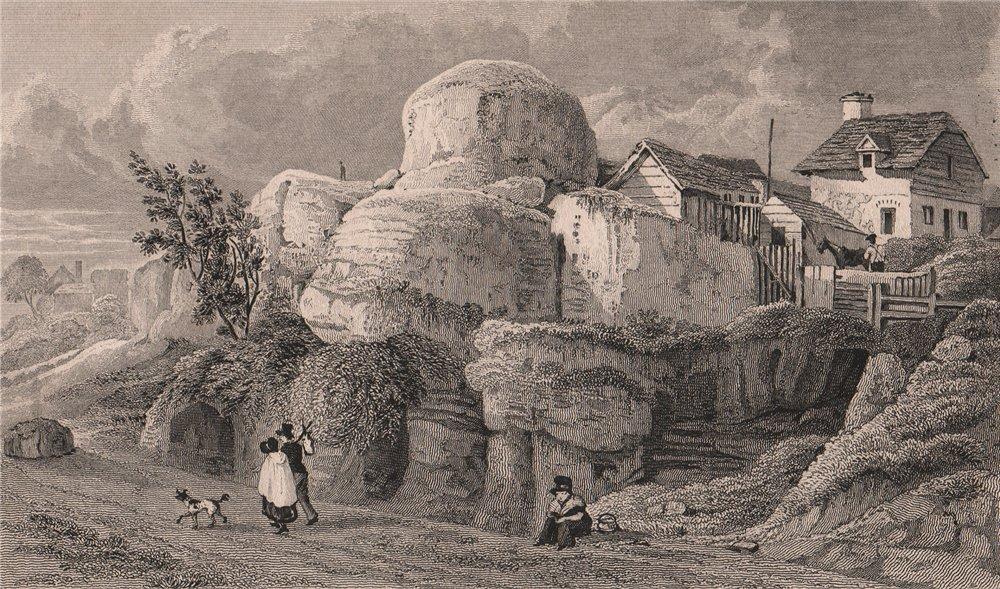 Associate Product High Rocks, Tunbridge Wells. Kent. SHEPHERD 1829 old antique print picture