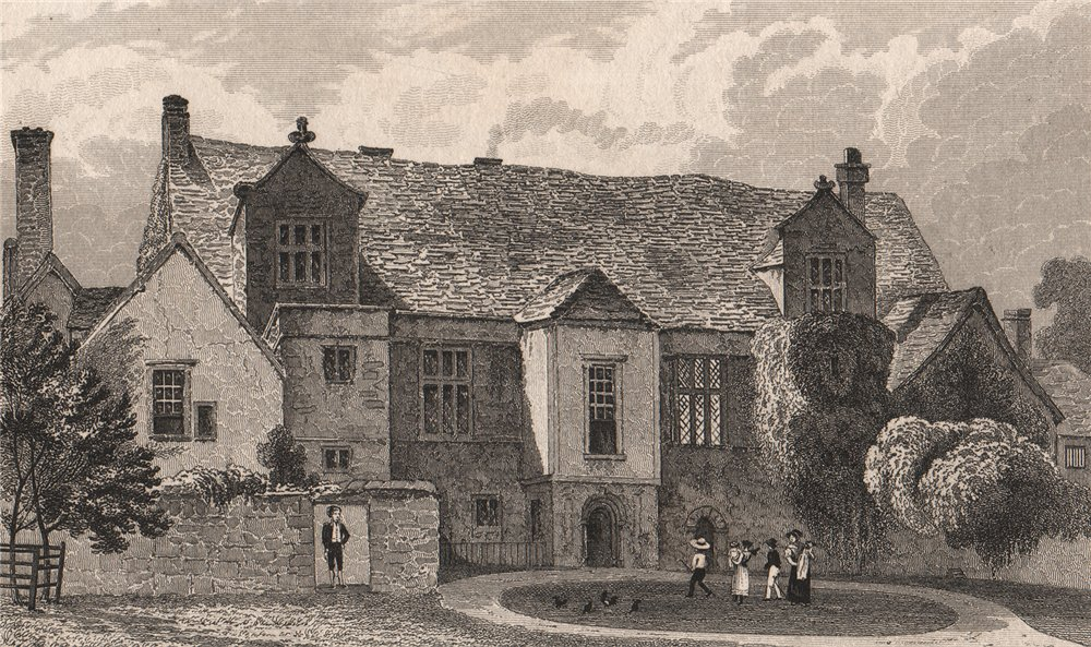 Associate Product The Bishop's Palace at Maidstone. Kent. SHEPHERD 1829 old antique print
