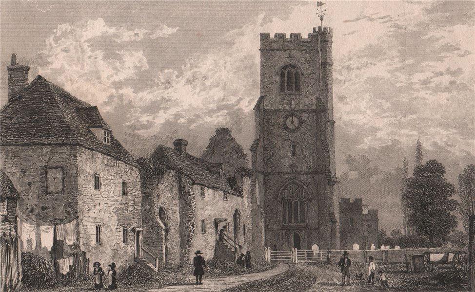 Associate Product Church of St Peter & St Paul. Archbishop's Palace, Charing, Kent. SHEPHERD 1829