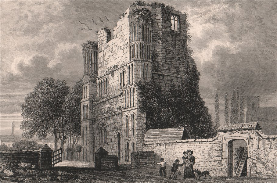 Associate Product St. Mary's Abbey (Malling Abbey), Kent. SHEPHERD 1829 old antique print