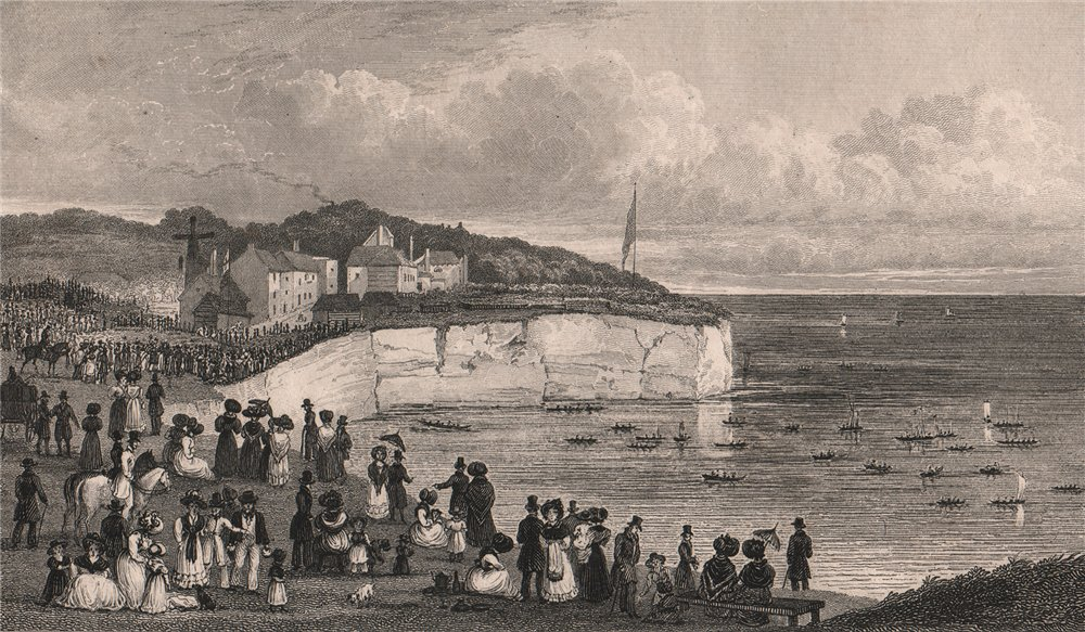 Associate Product Pegwell Bay near Ramsgate, Kent. Regatta, Sept 23 1828. SHEPHERD 1829 print