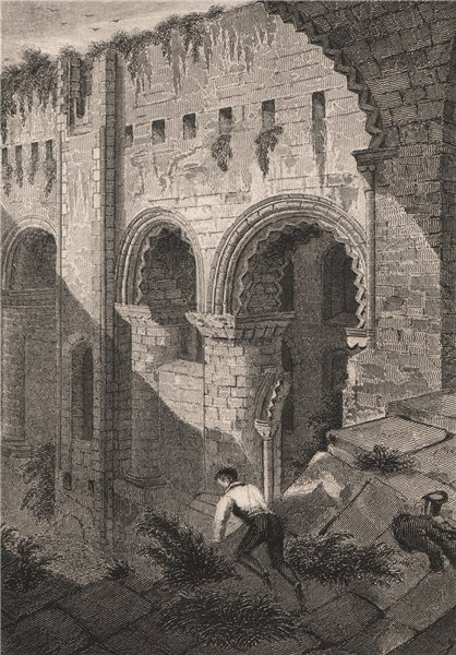 Associate Product Interior of Rochester Castle. Kent. BARTLETT 1829 old antique print picture