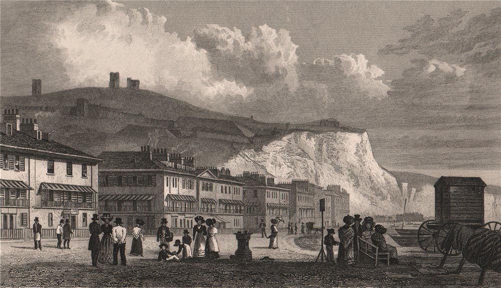 Associate Product The Marine Parade, and Julius Caesar's tower at Dover. Kent. SHEPHERD 1829
