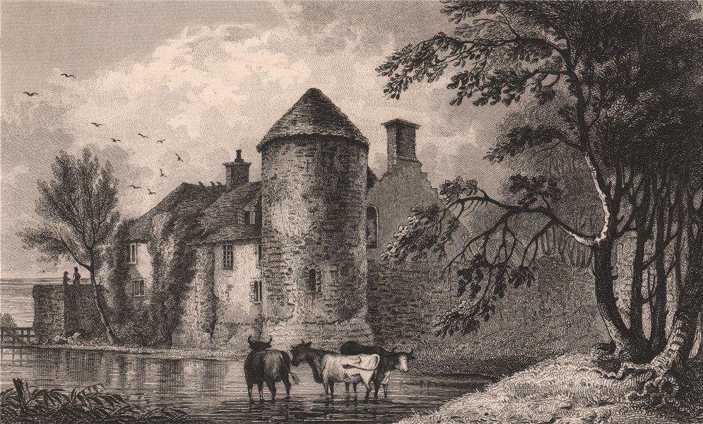 Associate Product Westenhanger Castle, near Hythe. Kent. SHEPHERD 1829 old antique print picture
