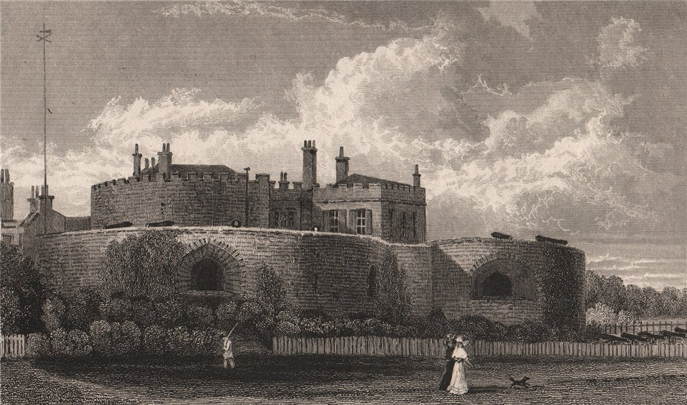 Associate Product Welmer Castle, Kent. SHEPHERD 1829 old antique vintage print picture