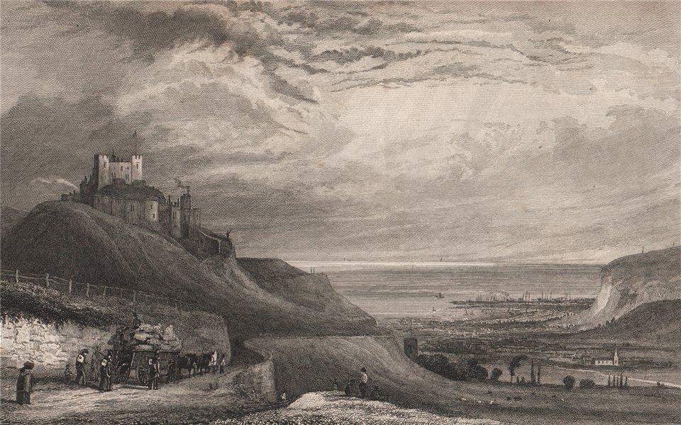 Associate Product Dover Castle, Kent. CAMPION 1829 old antique vintage print picture