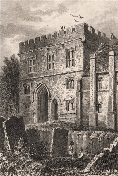 Associate Product College of All Saints Gateway, Maidstone. Kent. BARTLETT 1829 old print