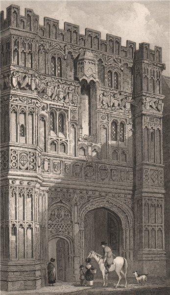 Associate Product Christ Church Gate, Canterbury. Kent. GASTINEAU 1829 old antique print picture