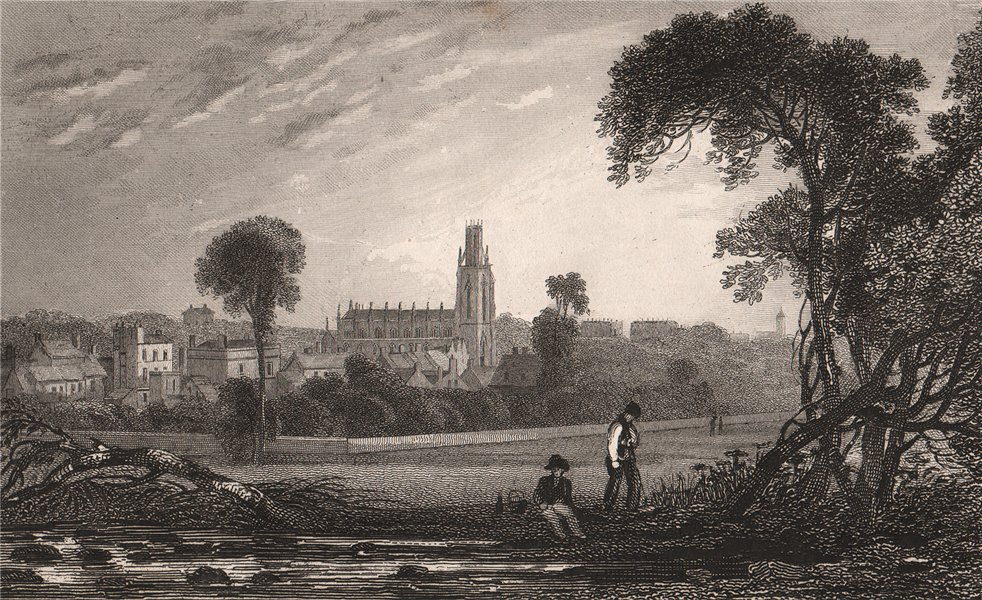 Associate Product Ramsgate, with St. George the Martyr church. Kent. SHEPHERD 1829 old print