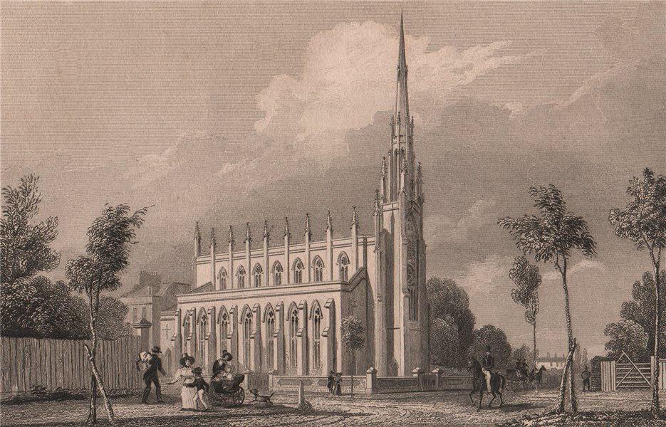 Associate Product St Michael & All Angels Church, Blackheath Park. London. BAYNES 1829 old print