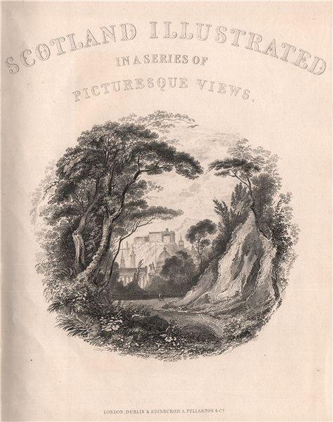 Associate Product Edinburgh Castle. Scotland 1845 old antique vintage print picture