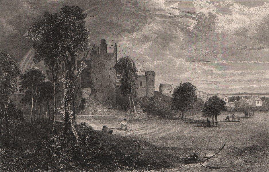 Associate Product Craigmillar Castle, Edinburgh. Scotland 1845 old antique vintage print picture