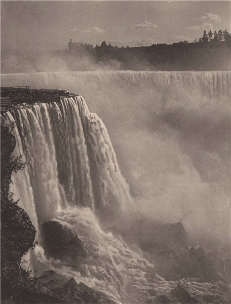 Associate Product The Horseshoe, Niagara Falls. Albertype print 1893 old antique picture