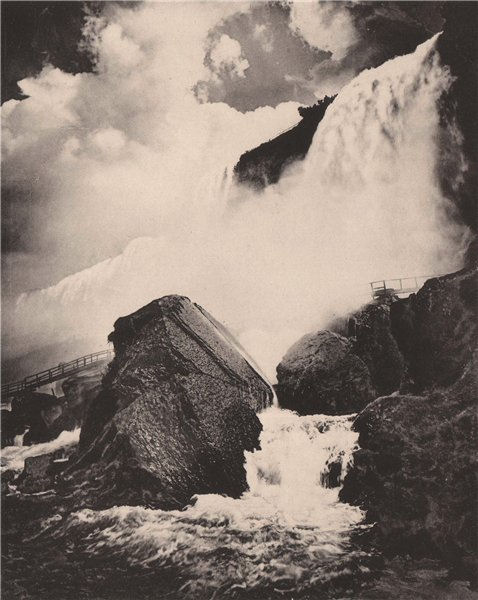 Associate Product Rock of Ages and Cave of the Winds, Niagara Falls. Albertype print 1893