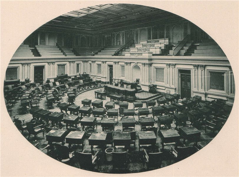 Associate Product The Senate Chamber in the Capitol, Washington, D. C.. Albertype print 1893