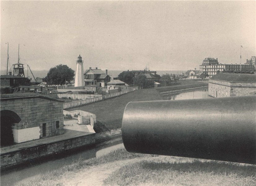 Associate Product Fortress Monroe & the Hygeia Hotel, Old Point Comfort, Virginia. Albertype 1893