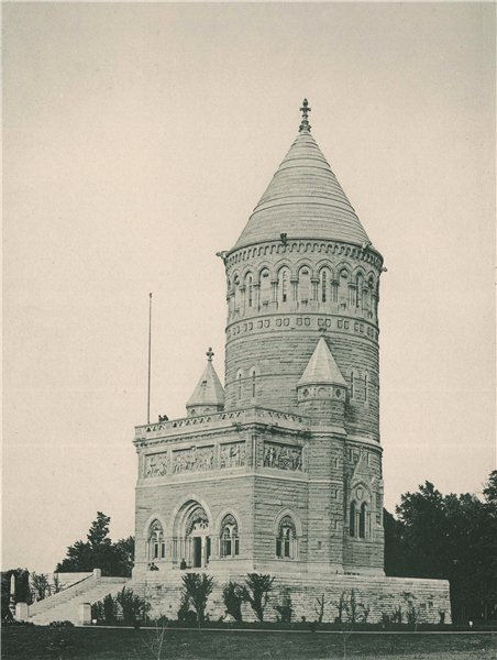 The Garfield Memorial, Lakeview Cemetery, Cleveland, Ohio. Albertype print 1893