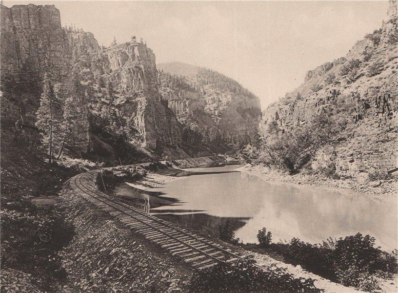 Associate Product Echo Cliffs, Colorado & Rio Grande Railroad, Arizona. Albertype print 1893