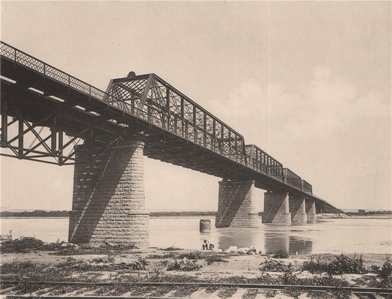 Associate Product The Union Pacific Bridge over the Missouri, Omaha, Nebraska. Albertype 1893