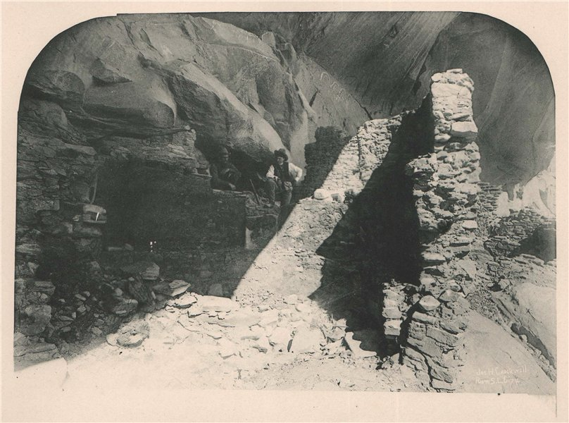Associate Product A Cliff Dwelling, Utah. Albertype print 1893 old antique vintage picture