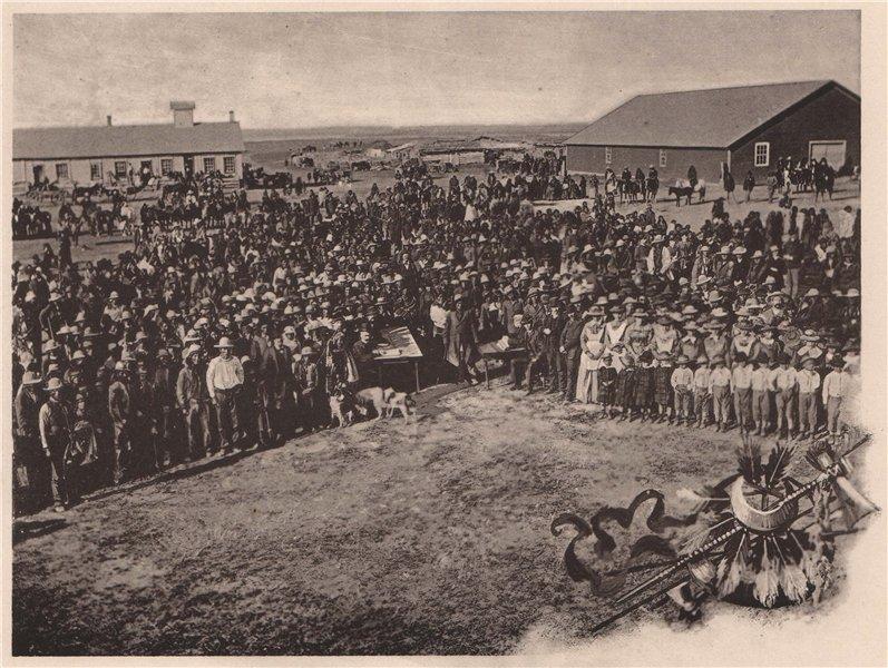 Associate Product Census Taking at Standing Rock Agency, North Dakota. Albertype print 1893