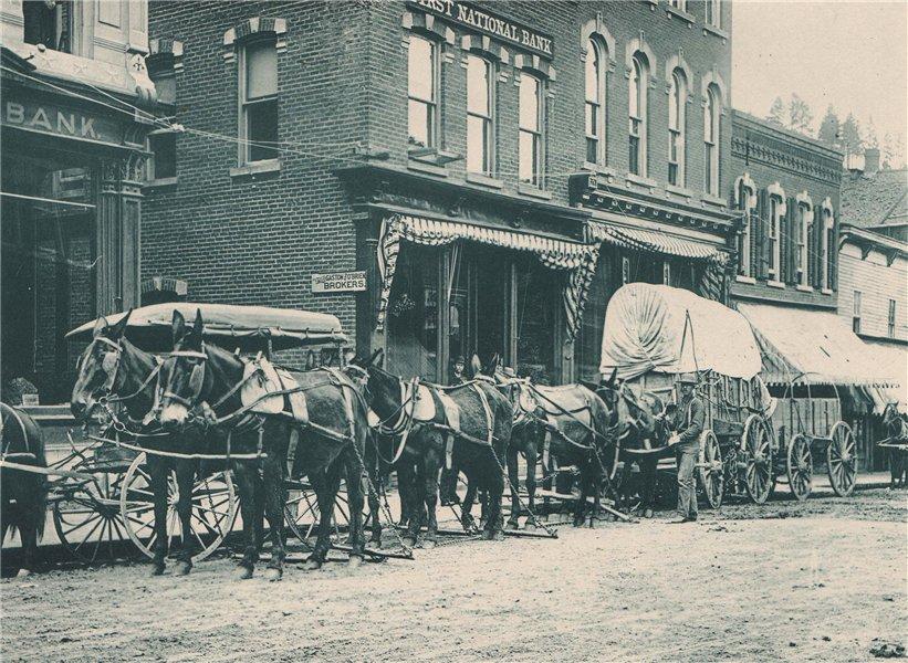 Associate Product The Black Hills Stage at Deadwood, South Dakota. Albertype print 1893