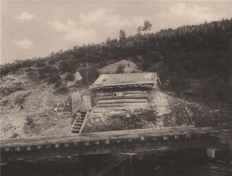 Associate Product A Miner's Log Cabin in the Black Hills, South Dakota. Albertype print 1893