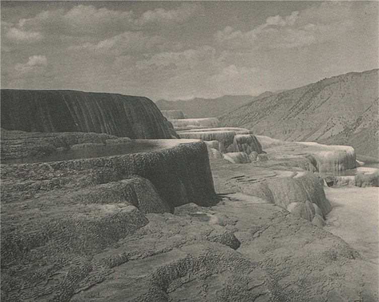 Associate Product Upper Pulpit Terraces, Yellowstone National Park, Wyoming. Albertype print 1893