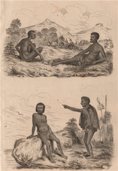 Associate Product ETHIOPIAN RACE. Homme. Races Ethiopique. East Africa I 1834 old antique print