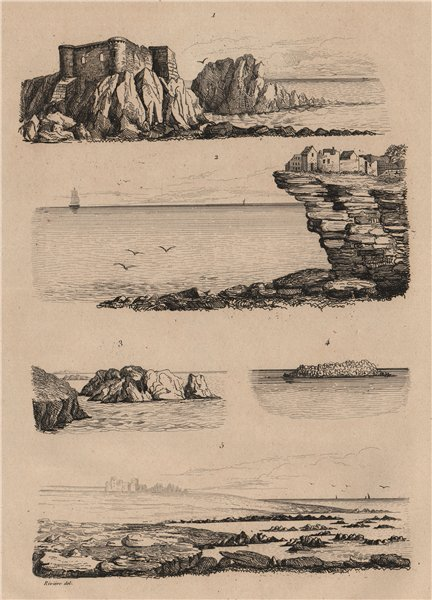 Associate Product SEASCAPES. Plages. Beaches. Coastal scenery. I 1834 old antique print picture
