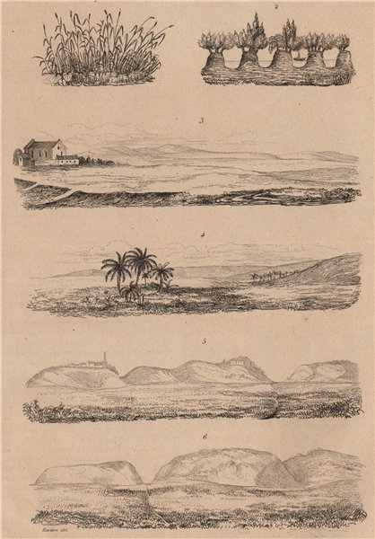 Associate Product SEASCAPES. Plages. Beaches. Coastal scenery. III 1834 old antique print