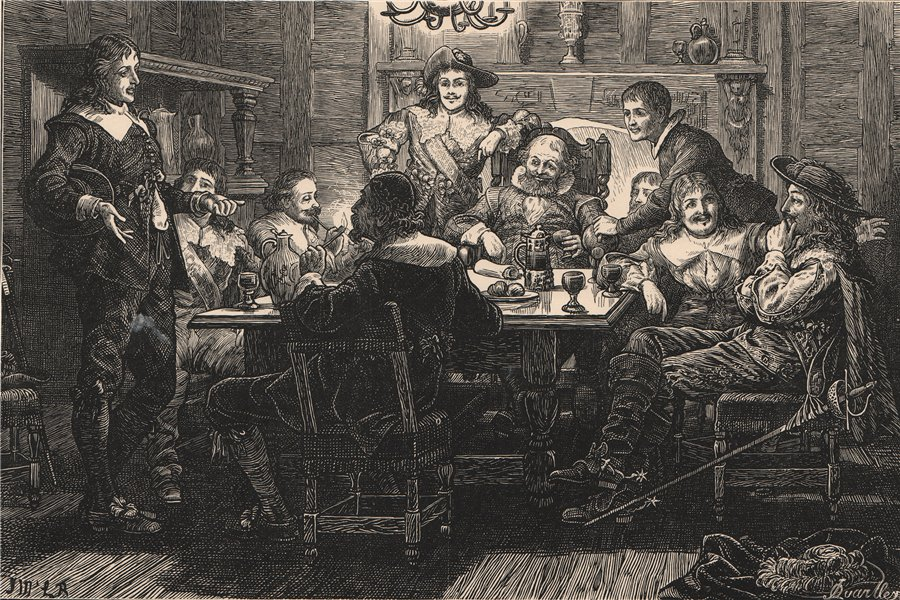 """Associate Product Introduction of Randolph to Ben Johnson at the """"Devil"""" Tavern, London c1880"""