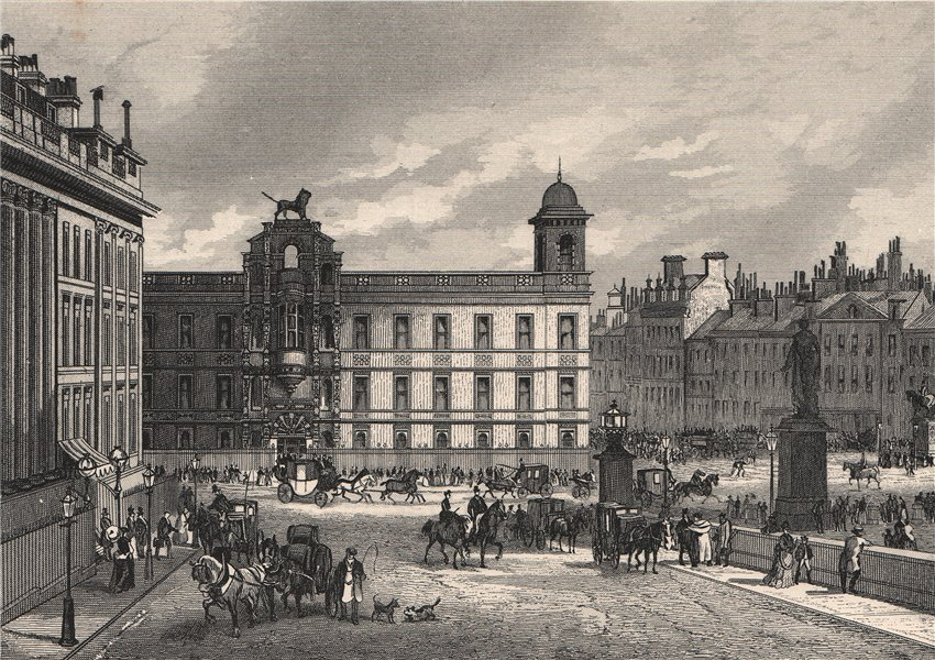 Associate Product Northumberland House, London c1880 old antique vintage print picture
