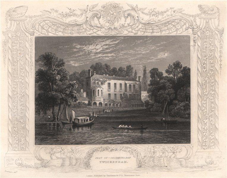 Associate Product 'Seat of Drummond Esq, Twickenham'. Decorative view by William TOMBLESON 1835