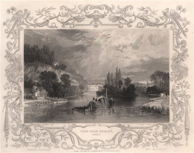 Associate Product 'View near Hurley'. Berkshire. Decorative view by William TOMBLESON 1835 print