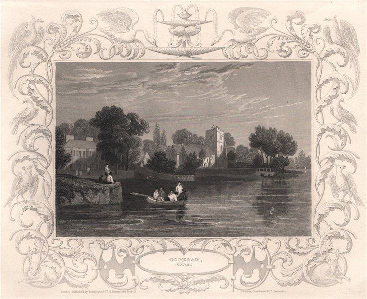 Associate Product 'Cookham'. Berkshire. Decorative view by William TOMBLESON 1835 old print