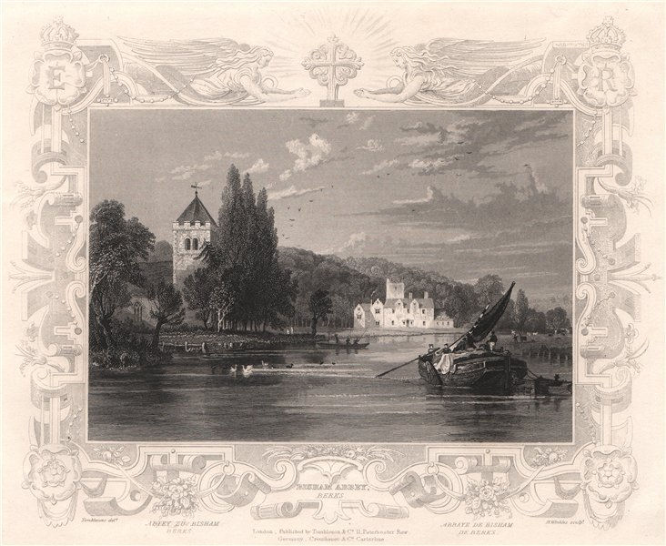 Associate Product 'Bisham Abbey'. Berkshire. Decorative view by William TOMBLESON 1835 old print