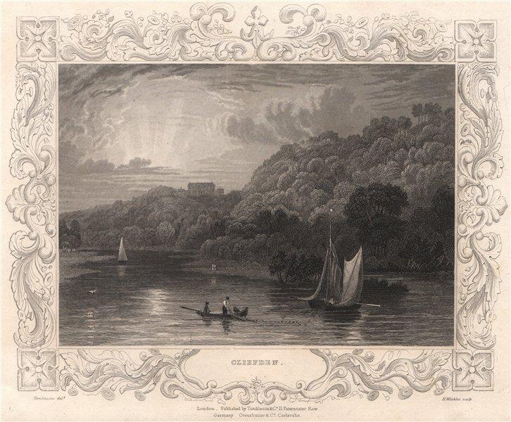 Associate Product 'Cliefden'. Cliveden, Buckinghamshire. Decorative view by Wm. TOMBLESON 1835